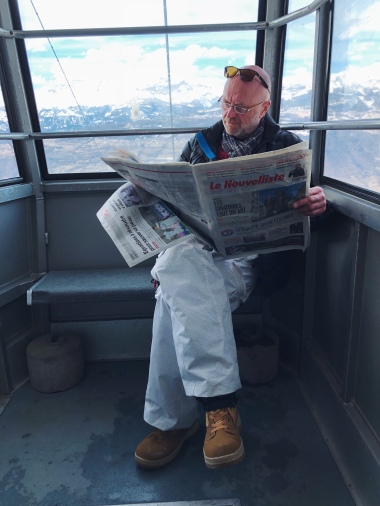Teleferique to ski slopes