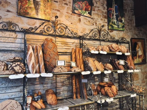 """Painting of """"pains"""" - actually a Boulangerie"""