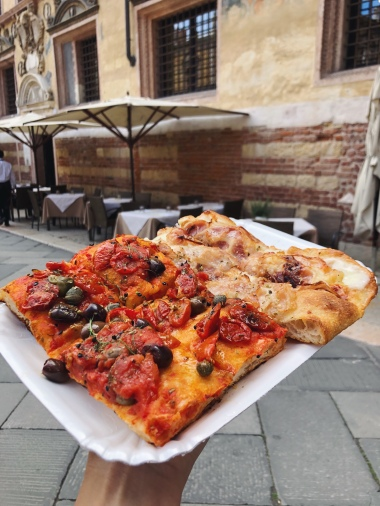 Pizza in the piazza